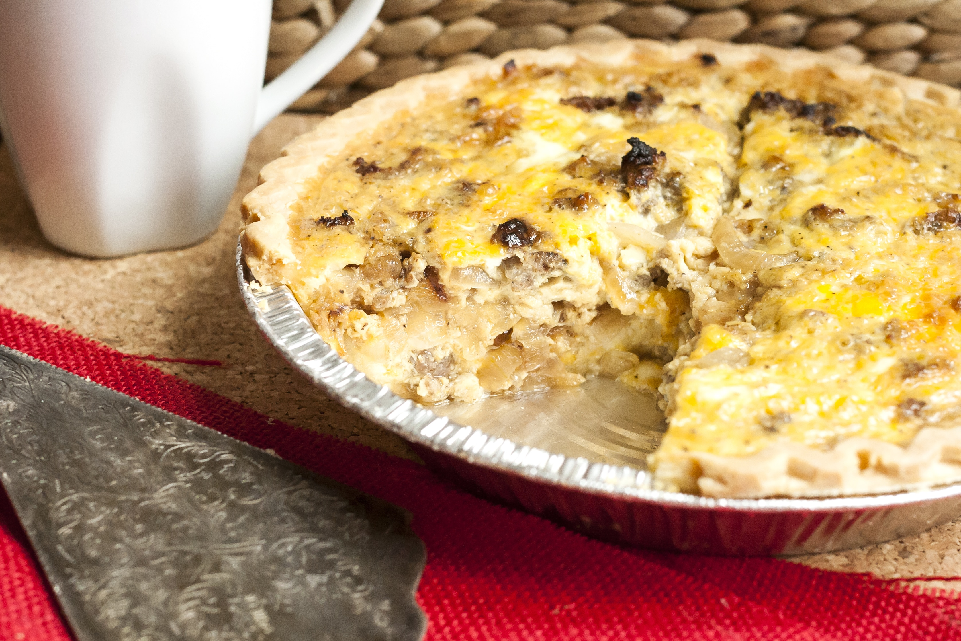 Caramelized Onion & Sausage Quiche--Gluten Free with L.B.
