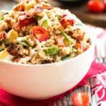 Avocado BLT Quinoa Salad