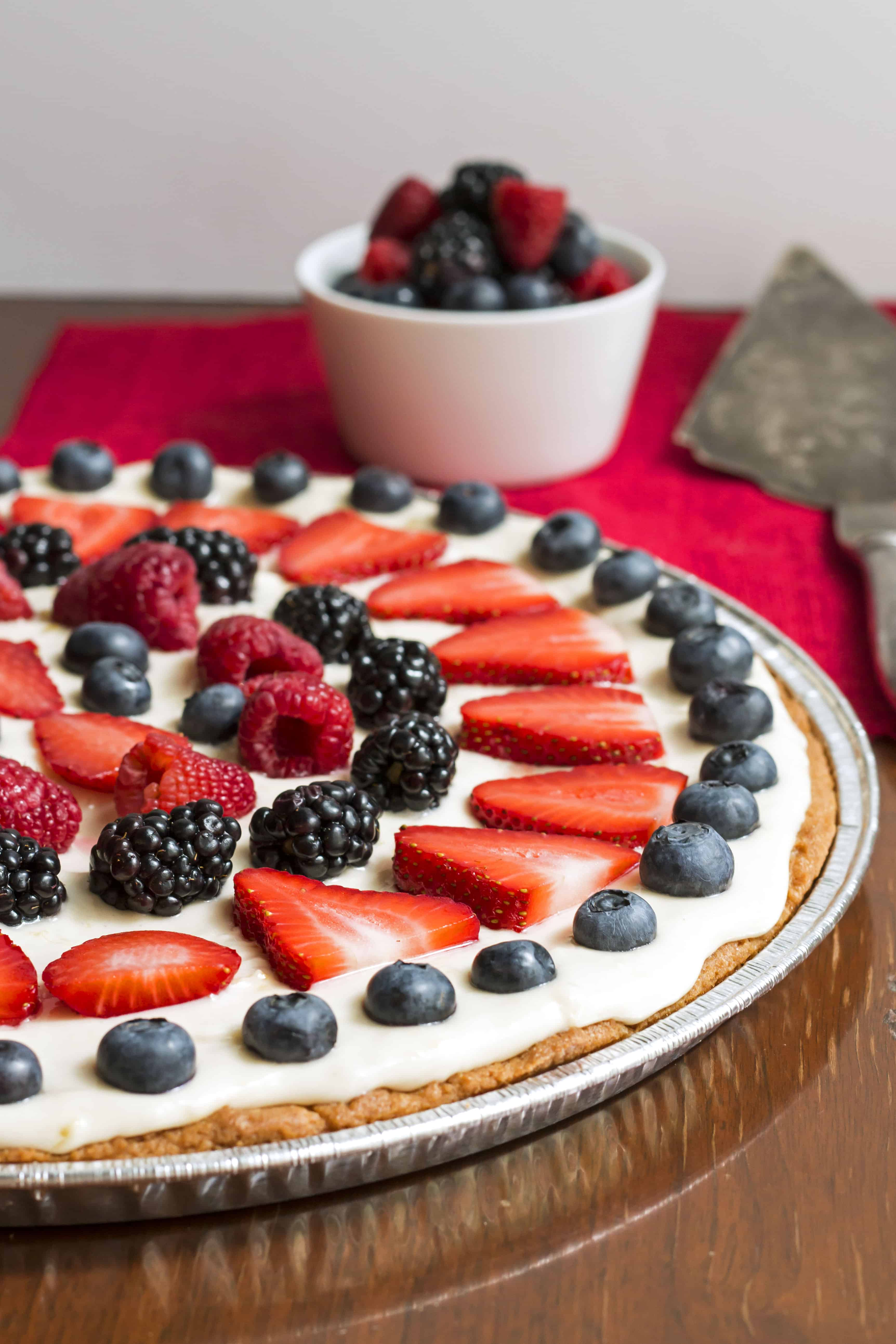 July 4th Fruit Pizza