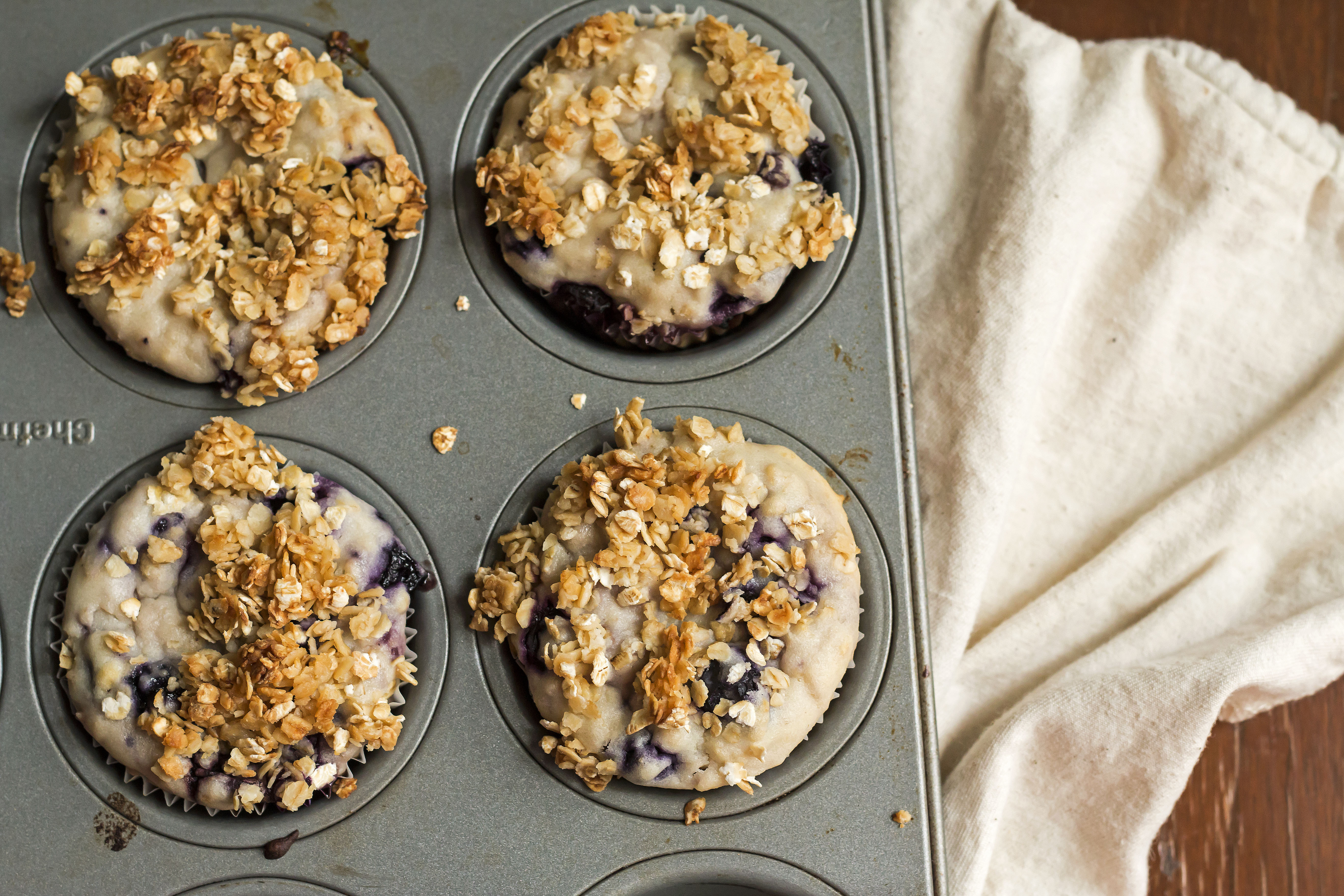 Blueberry Muffins Without Refined Sugar--Gluten Free with L.B.