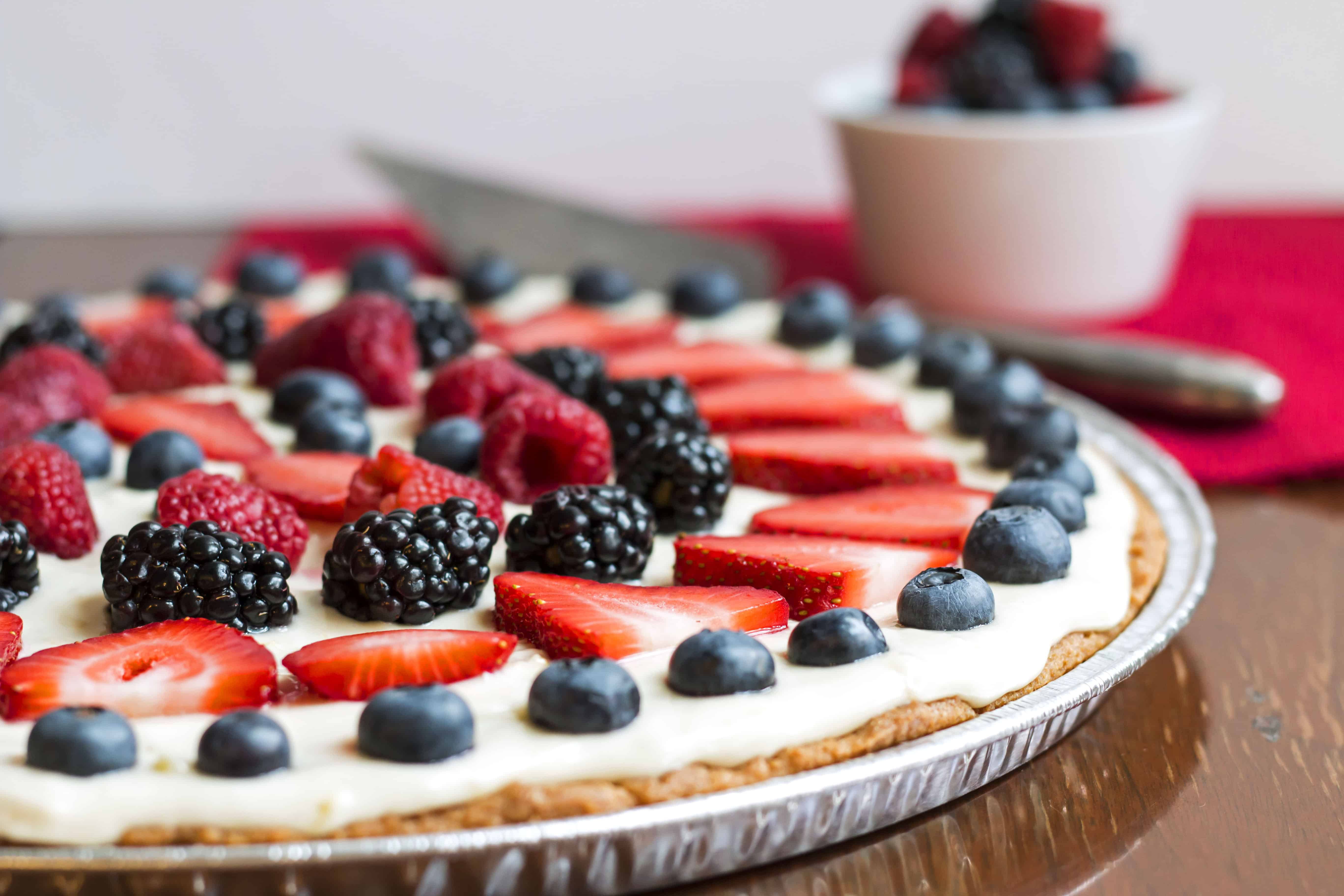 4th of July Fruit Pizza--Gluten Free with L.B.