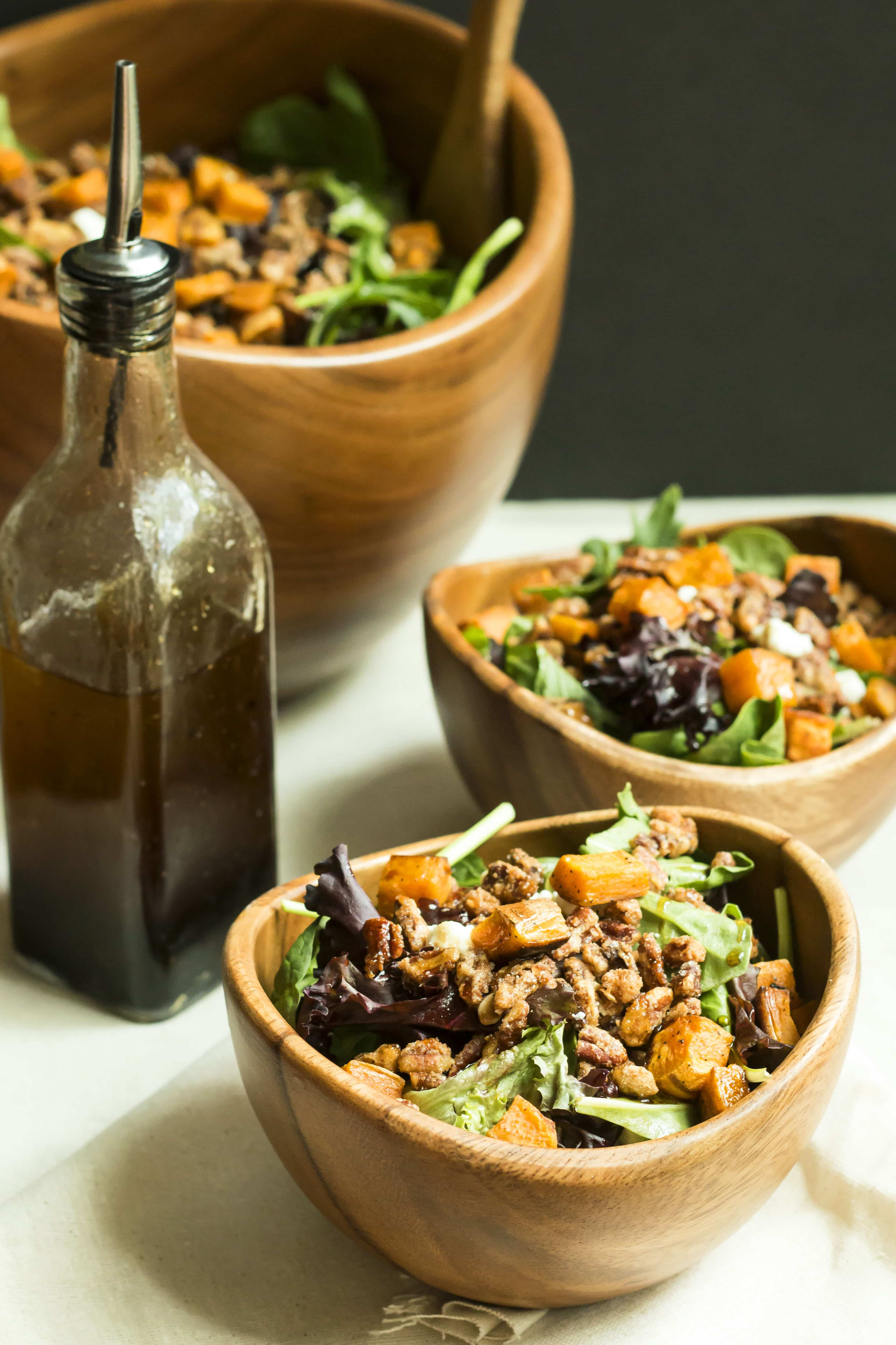 Warm Candied Pecan Salad | Gluten Free with L.B.