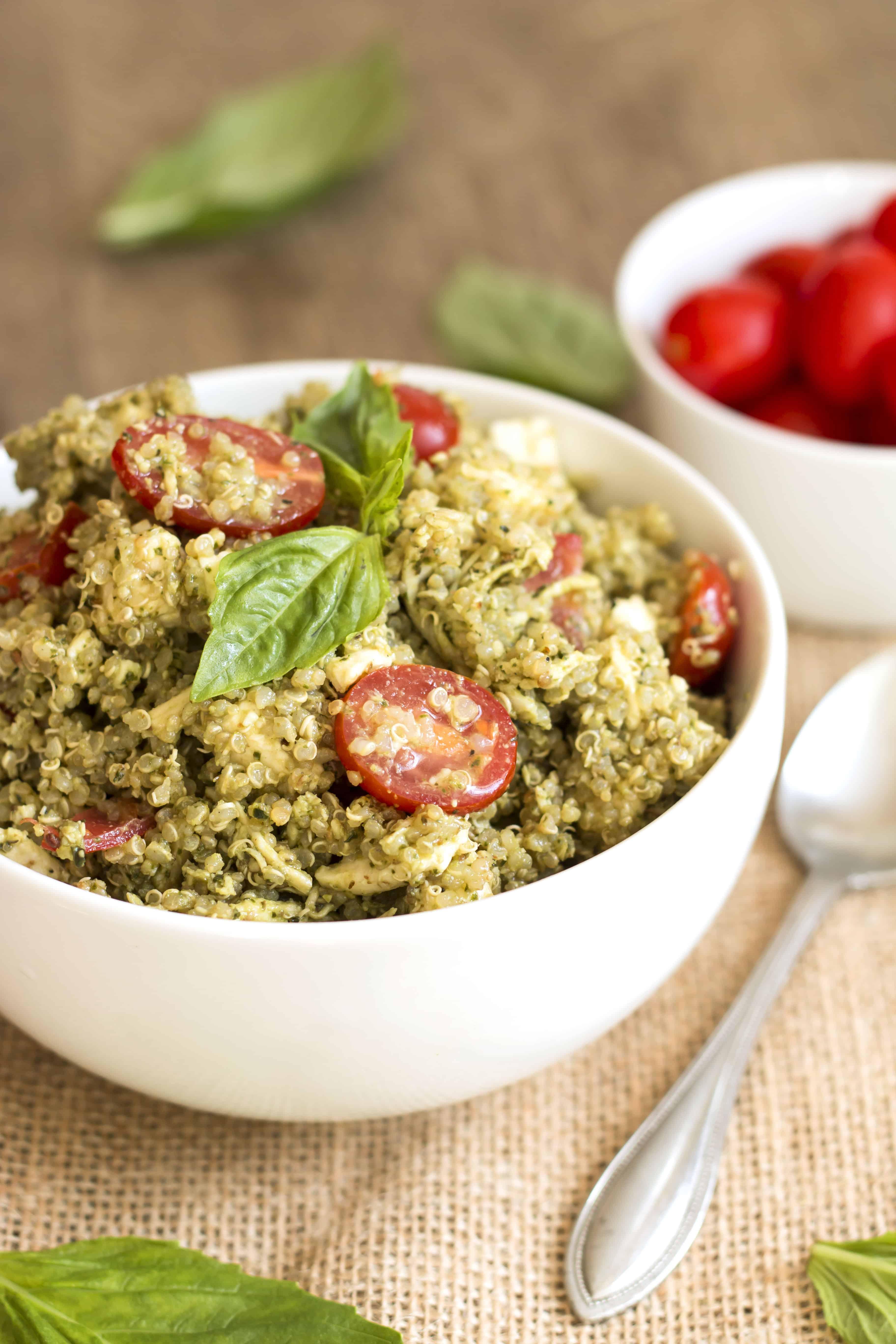Chicken Caprese Quinoa Salad | Gluten Free with L.B.