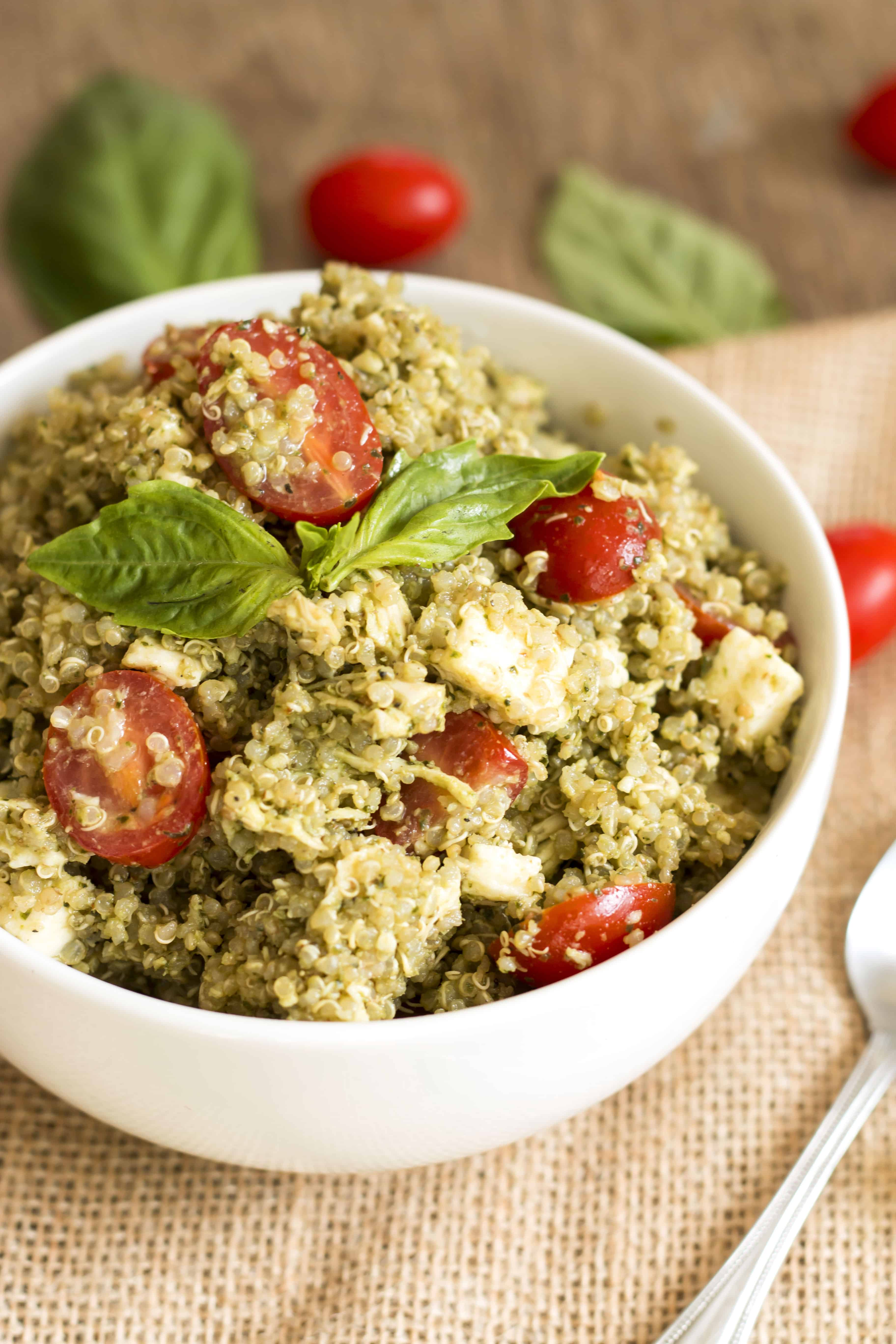 Chicken Caprese Quinoa Salad | Gluten Free with L.B.
