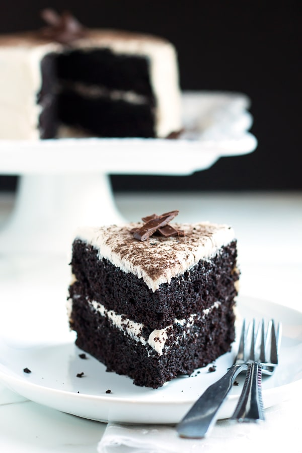 Dark Chocolate Cake with Cream Cheese Frosting
