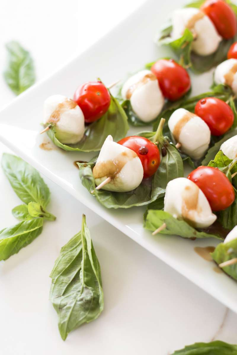 Caprese Bites | A gluten free appetizer recipe for caprese on a toothpick!