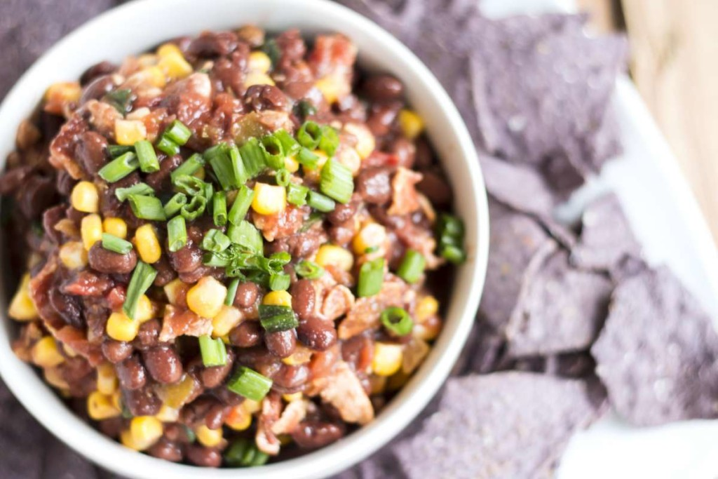 Black Bean & Bacon Party Dip   Gluten Free with L.B.