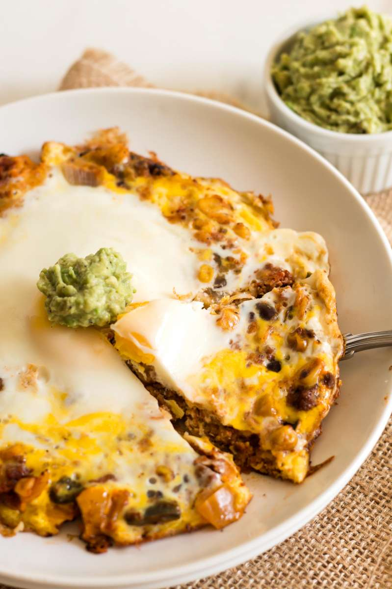 Sunny Side Up Turkey Taco Lasagna | Gluten Free with L.B.