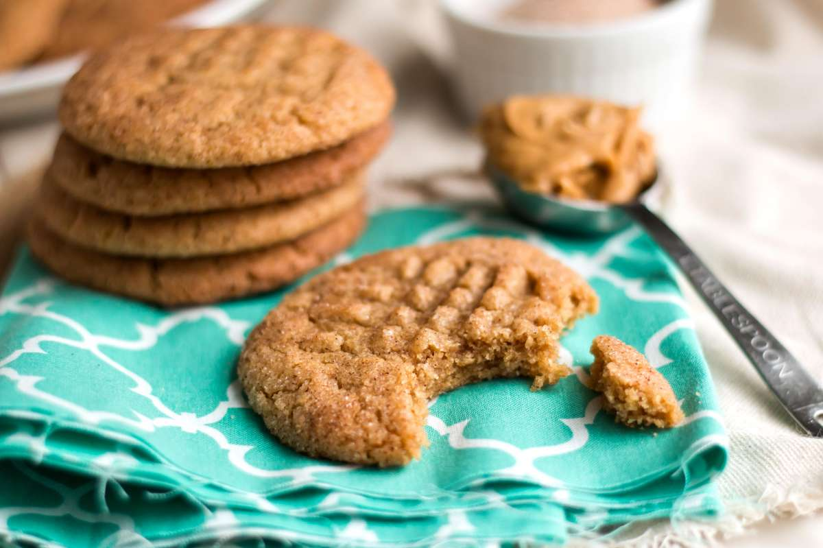 Snickerdoodle Peanut Butter Cookies | Gluten Free with L.B.