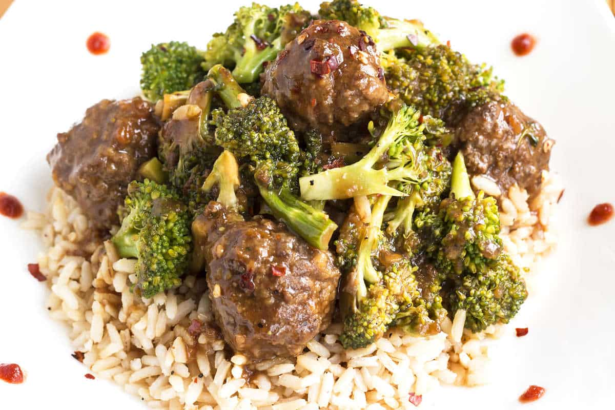 Beef Meatballs & Roasted Broccoli | Gluten Free with L.B.