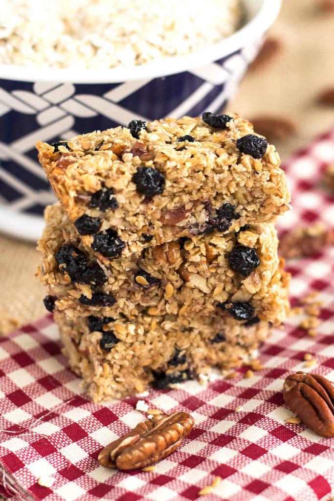 Blueberry Flax Granola Bars | Gluten Free with L.B.