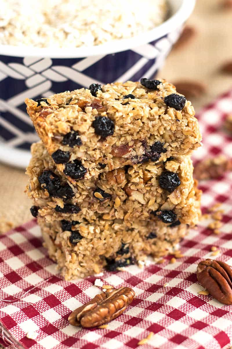 Blueberry Flax Granola Bars | Gluten Free with L.B.