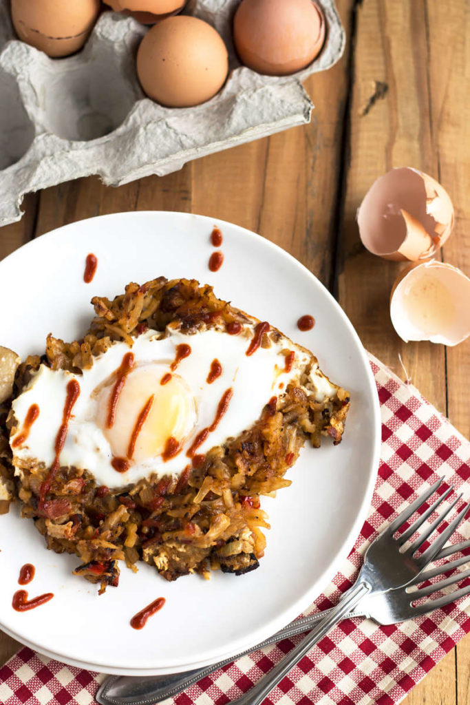 Easy Morning Hash & Eggs   Gluten Free with L.B.