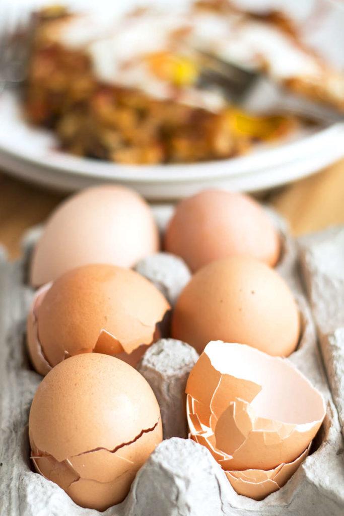 Easy Morning Hash & Eggs