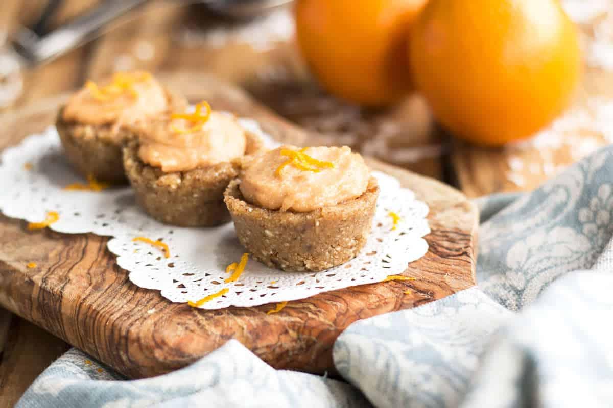 Orange Creamsicle Mini Tarts | Gluten Free with L.B.