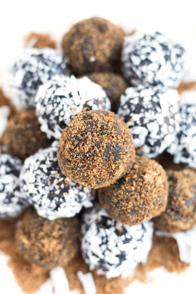 Healthy Fudge Nut Truffles