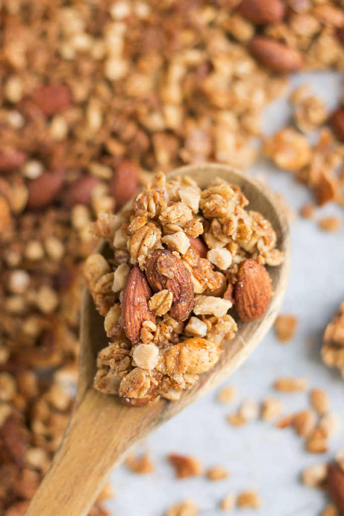 Big Cluster Toffee Nut Granola   Gluten Free with L.B.