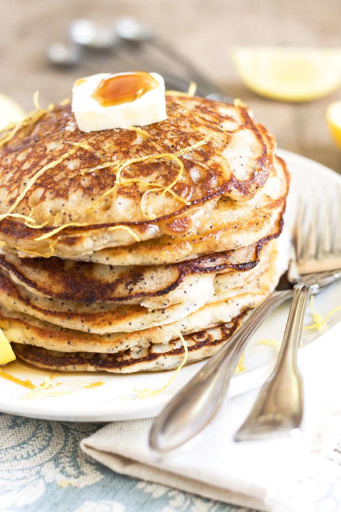 Bisquick Lemon Poppy Seed Pancakes | Gluten Free with L.B.
