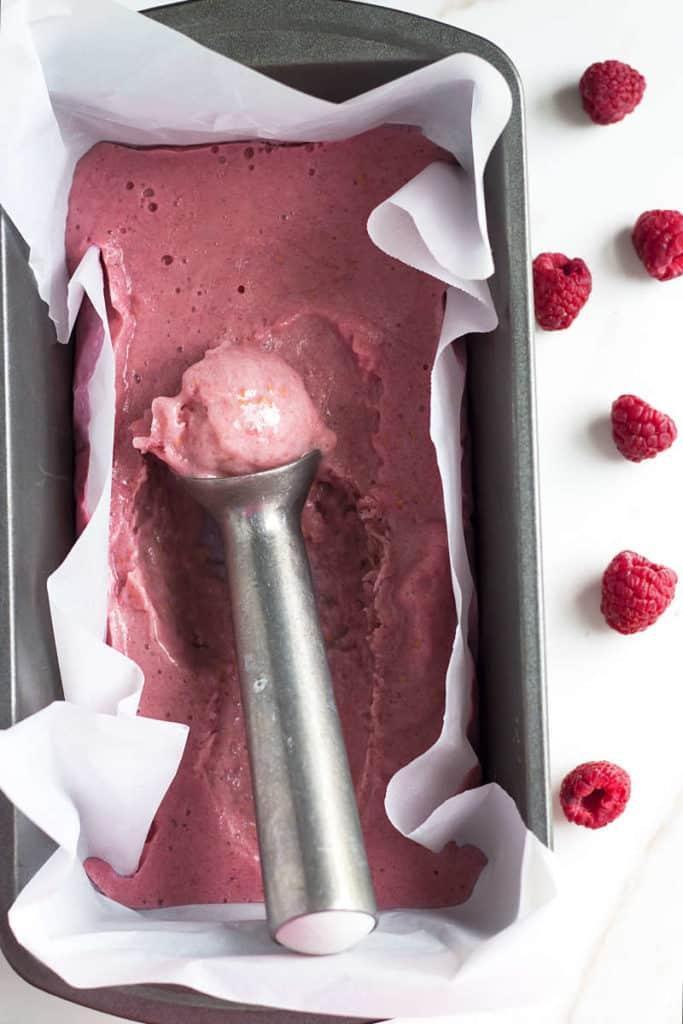Raspberry Banana Ice Cream | Gluten Free with L.B.