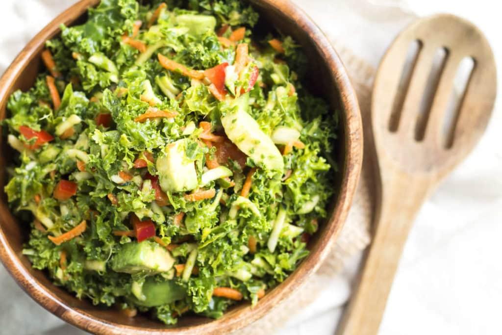 Confetti Kale Salad   Gluten Free with L.B.