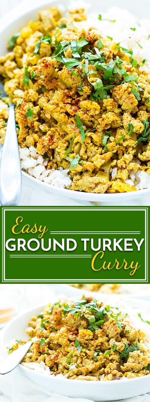 Easy Ground Turkey Curry Healthy Paleo And Gluten Free
