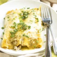 Chicken Verde Enchiladas | Gluten Free with L.B.