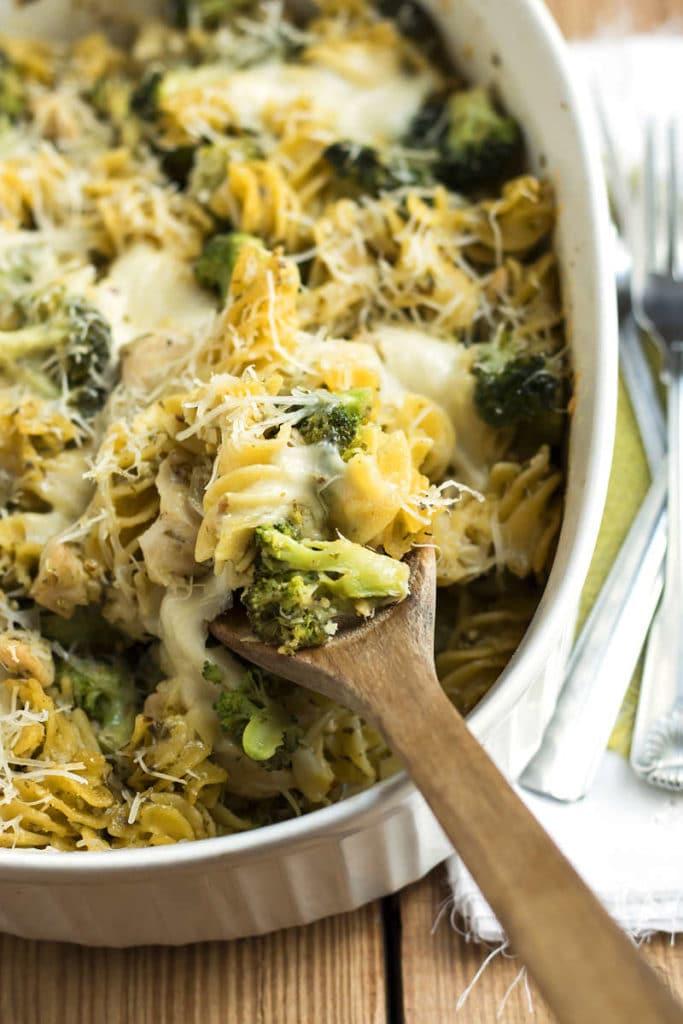 Broccoli & Chicken Pesto Pasta | Gluten Free with L.B.