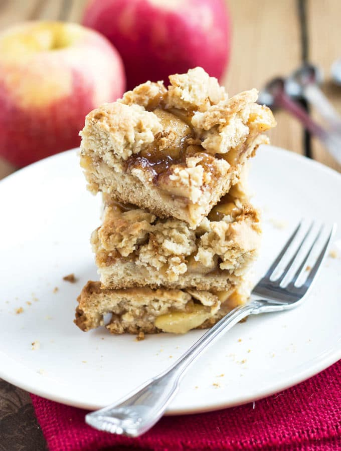 Apple Pie Crumb Bars | Gluten Free with L.B.