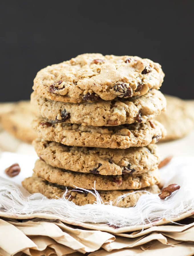 Nutty Oatmeal Raisin Cookies