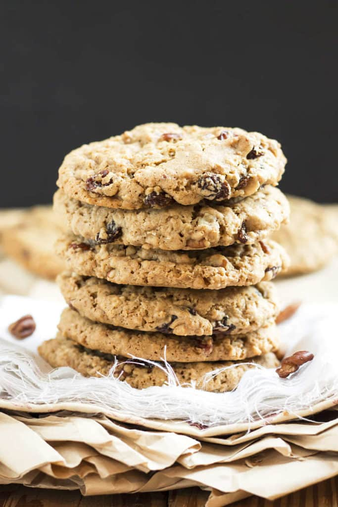 Nutty Oatmeal Raisin Cookies | Gluten Free with L.B.