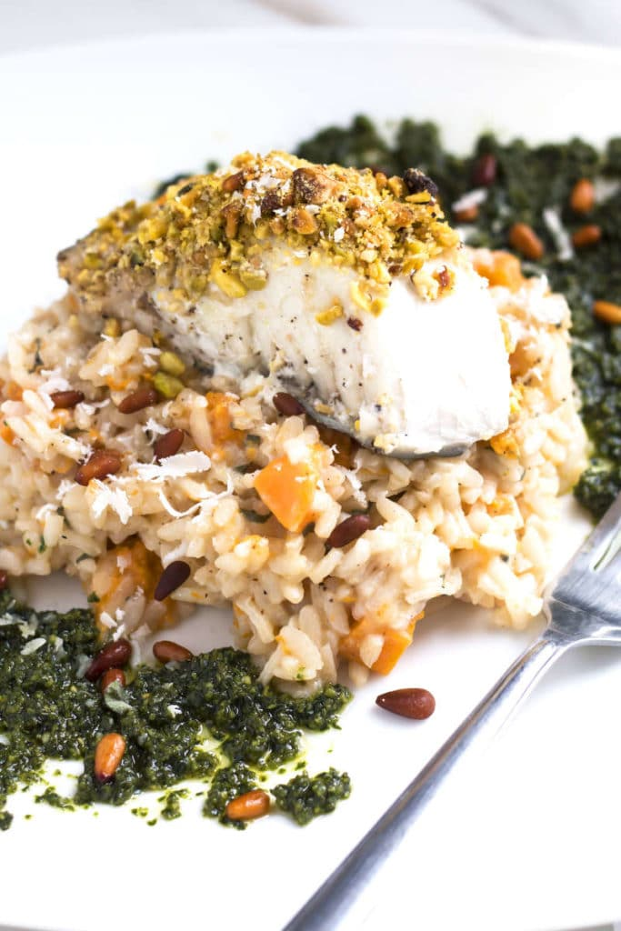 Pistachio Crusted Halibut | Gluten Free with L.B.