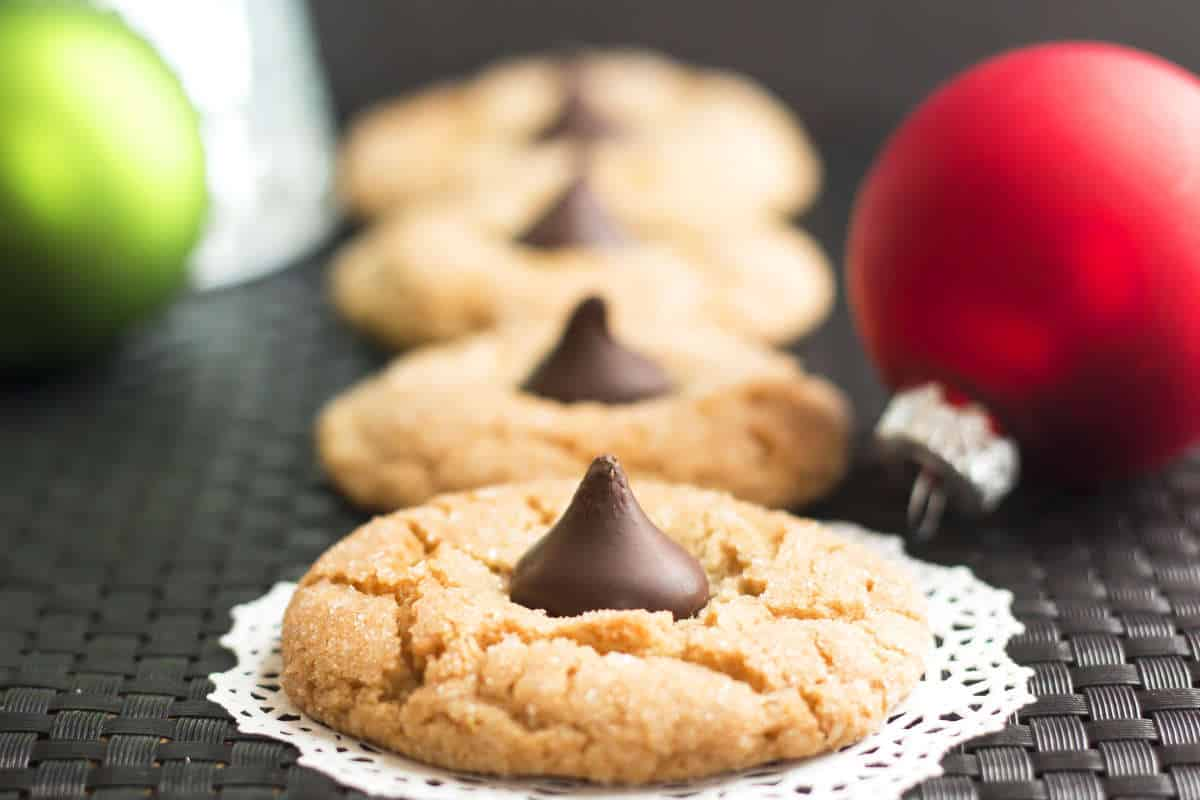 peanut butter kisses gluten free with lb - Christmas Peanut Butter Cookies