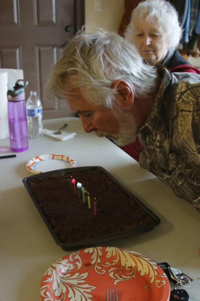 Daddy Doug's Birthday   Gluten Free with L.B.