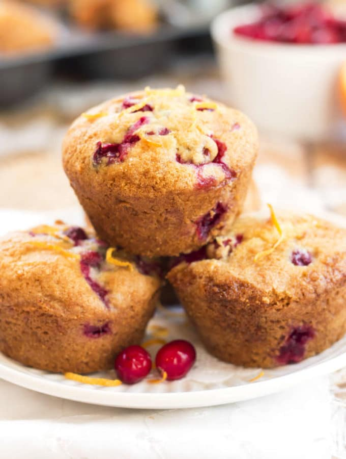 Healthy Gluten Free Cranberry Orange Muffins