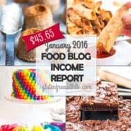 Food Blog Income Report   January 2016