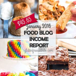 Food Blog Income Report | January 2016