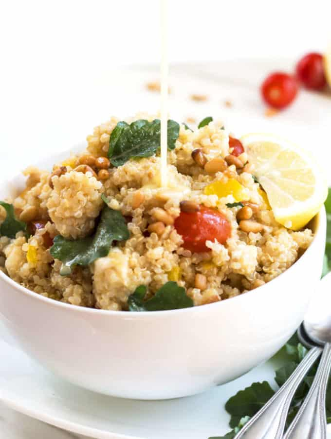 Lemon Vinaigrette Quinoa Salad