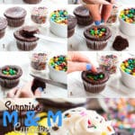 Surprise M&M Cupcakes | A gluten free cupcake recipe.