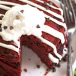 Red Velvet Chocolate Chip Pancakes {Video} | Gluten Free with L.B.