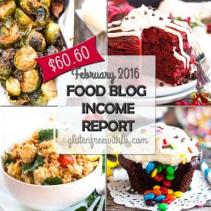 Food Blog Income Report | February 2016