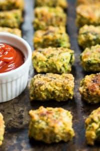 Three-Cheese Broccoli Tots | Gluten Free with L.B.