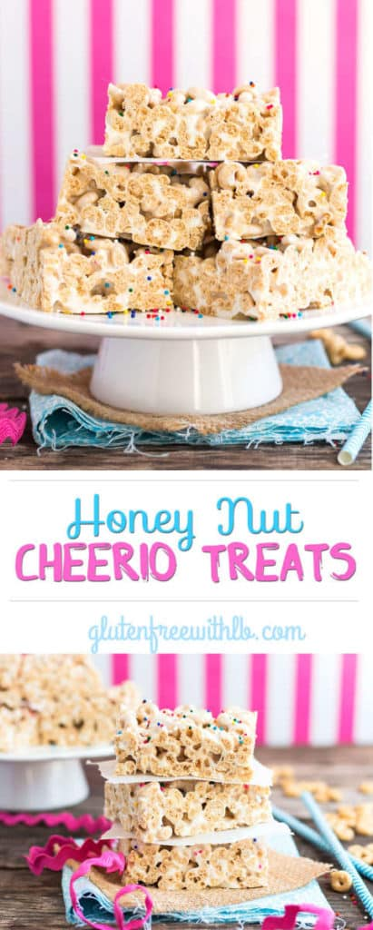 Honey Nut Cheerio Treats | Only 3 ingredients are needed for this quick, gluten free snack or dessert recipe using Cheerios!