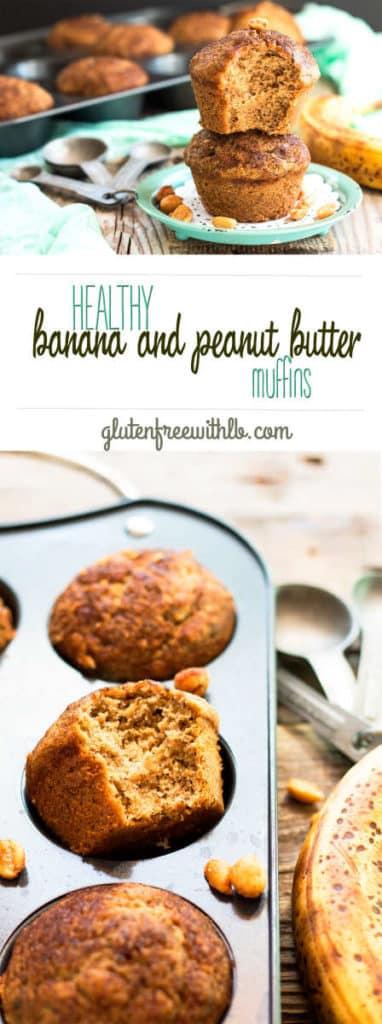 Healthy Banana & Peanut Butter Gluten Free Muffins recipe