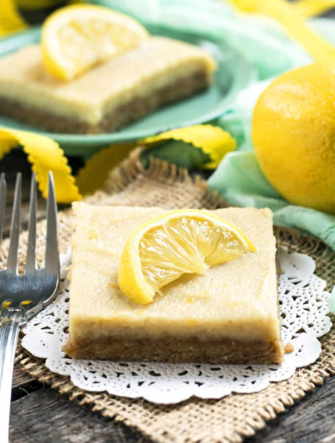 Zesty & Healthy No-Bake Lemon Bars | Gluten Free with L.B.