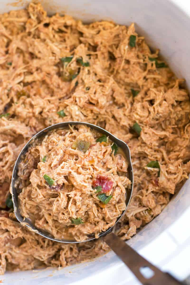 Slow Cooker Salsa Shredded Chicken recipe | A gluten free recipe for shredded chicken recipe that is made in the Crock-Pot.