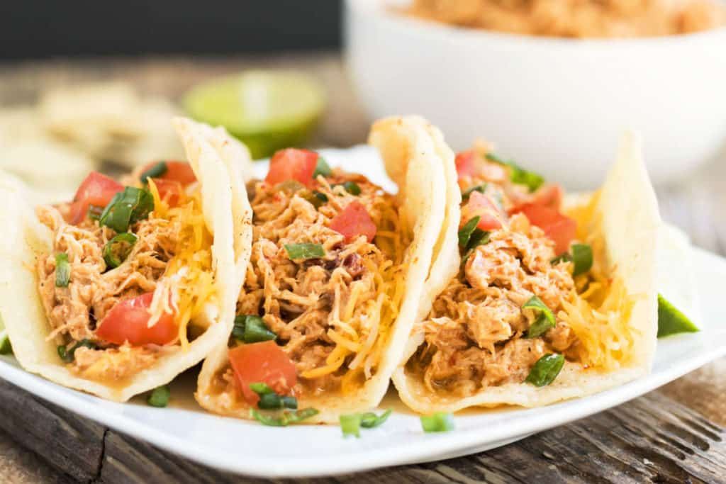 Slow Cooker Salsa Shredded Chicken recipe