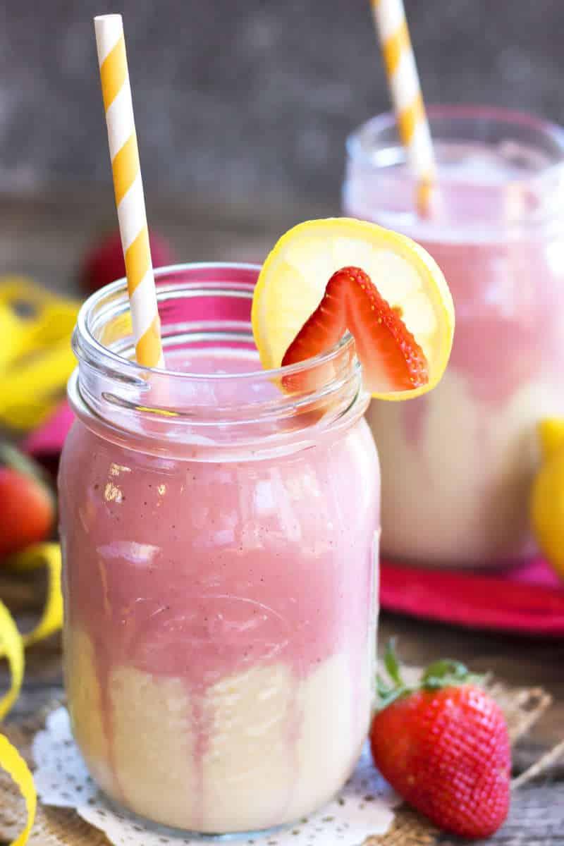 Strawberry Lemonade Smoothie Recipe | Gluten Free with L.B.