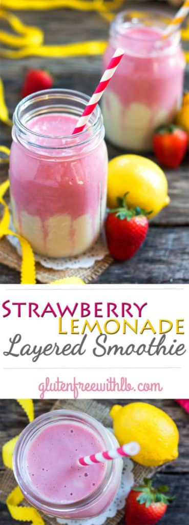 Strawberry Lemonade Smoothie Recipe | Gluten Free with L.B.