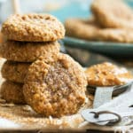 (4-Ingredient) Almond Butter Oatmeal Cookies