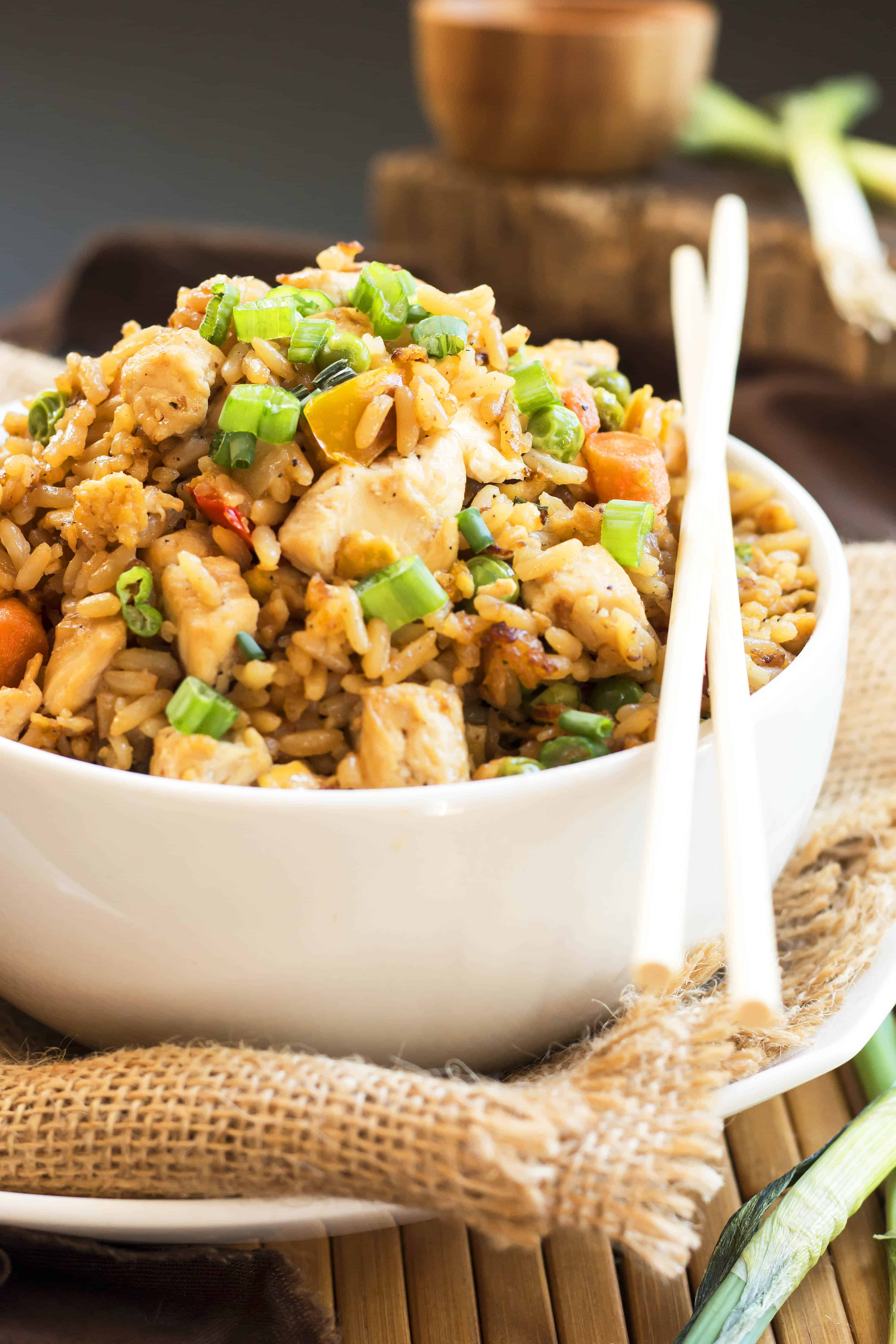 Chicken Fried Rice | A gluten free chicken fried rice recipe.